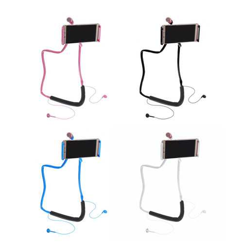 360° Rotating Neck Hanging Phone Holder Lazy Stand For 4-10 Inch Cellphone Tablet