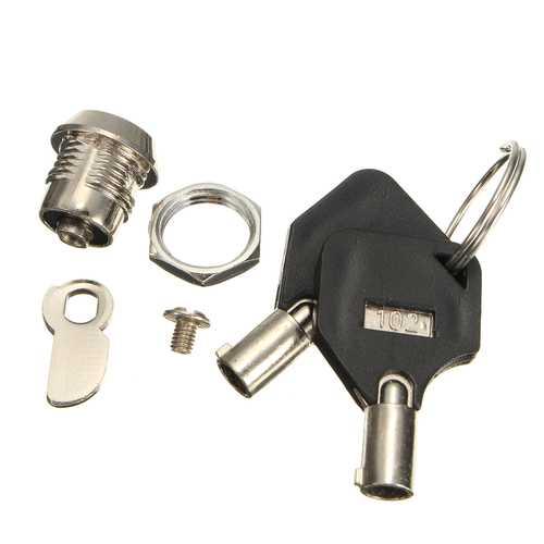 14.5mm Cam Lock Door Cabinet Lock Mailbox Drawer Cupboard Letter Box Locker With 2 Keys