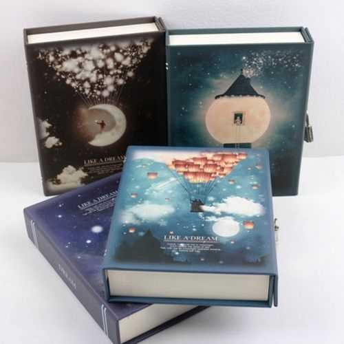 """""""Like a Dream"""" Journal Diary Notebook With Lock Box Functional Planner Lock Notebook Gift Package"""