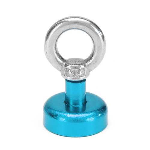 Effetool 20mm 9kg Neodymium Recovery Magnet Metal Detector Circular Eyebolt Magnet Red/Yellow/Blue