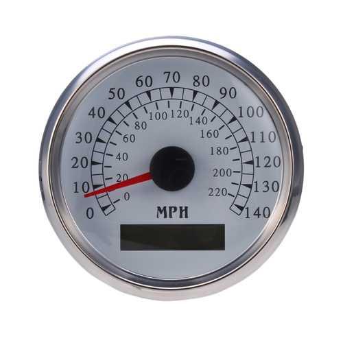 85MM 225 KM/h 140MPH Car Motorcycle GPS Speedometer Odometer Waterproof Digital Gauge