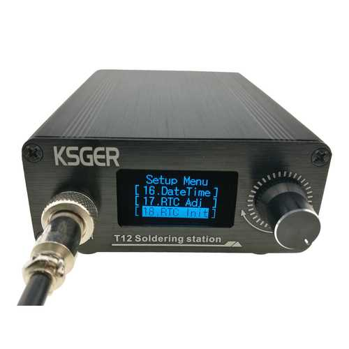 KSGER MINI V2.1S T12 900-M Temperature Controller Soldering Station Metal Case Cover High Power Supply 9501 Soldering Iron