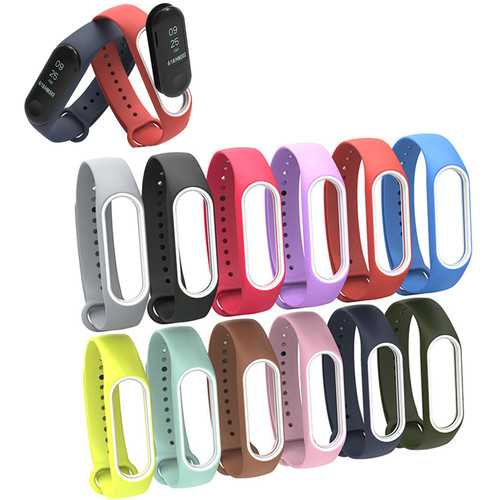 Bakeey Colorful Silicone Replacement Wristband Strap Bracelet Wristband for XIAOMI Mi Band 3