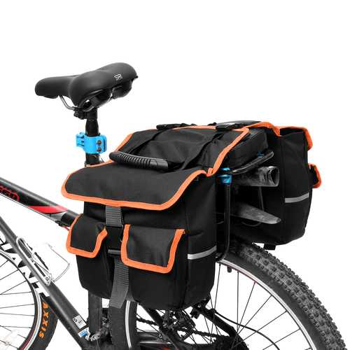 BIKIGHT 25L Bike Travel Luggage Carrier Mountain Bicycle Rear Rack Seat Bag Tool