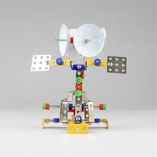 MoFun Metal Blocks Space Shuttle Receiving Station Model DIY Toys 126 PCS With Tools