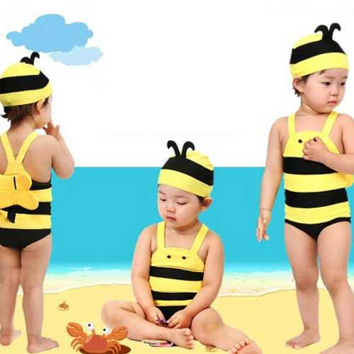 Children's Swimsuit Lovely Honey Bee Hot Spring Holiday Swimming suit Baby Swimwear