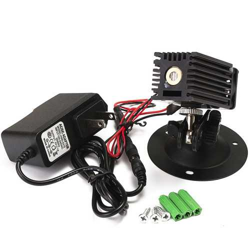 532nm 50mW Green Laser Linear Marking Locator With Adapter Fan Laser Module