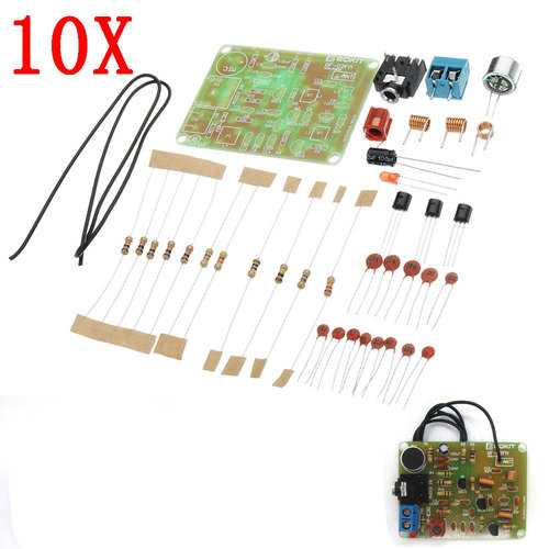 10pcs DC 3V To 6V DIY 88-108MHz FM Frequency Modulation Wireless Microphone Module Kits Transmitter Board Parts