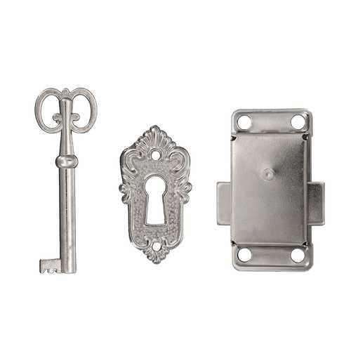 Cabinet Door Furniture Decorative Hardware Latch Hasp Pull Handles Key Curio Grandfather Clock Lock