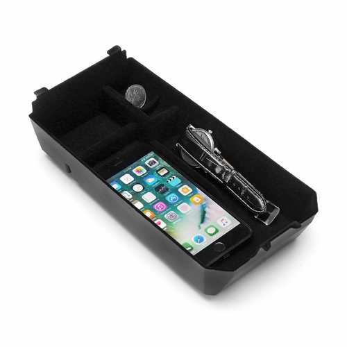 ABS Car Armrest Storage Container QI Wireless Phone Charging Box for Benz C GLC Series
