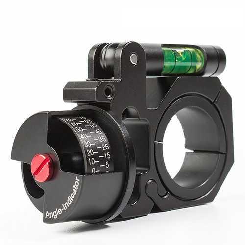 Left-hand 25.4/30mm Ring Angle Degree Indicator (ADI/ACI) Scope Mount Level Laser Sight Rail