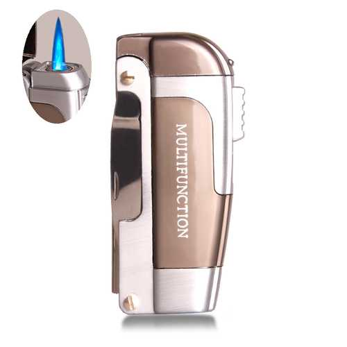 IPRee® Metal Multi-purpose Lighter Windproof Ignitor Starter Swiss Army Knife Refillable Lighter