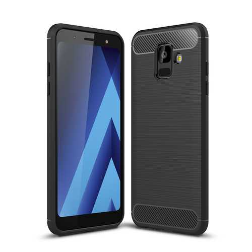 Bakeey Carbon Fiber Heat Dissipation Soft TPU Protective Case for Samsung Galaxy A6 2018