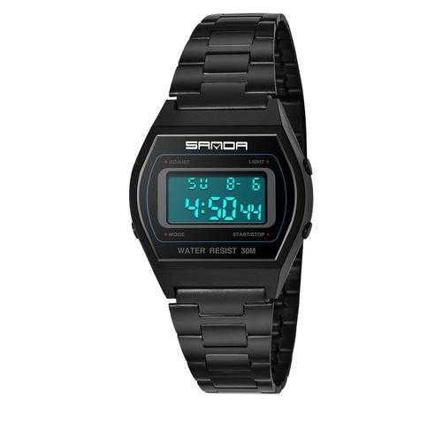 SANDA 406 Men Stainless Steel Calendar Sport Digital Watch