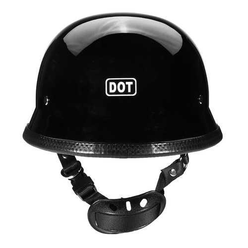 DOT German Style Motorcycle Half Face Helmet Motocross Bike Matte Black M/L/XL