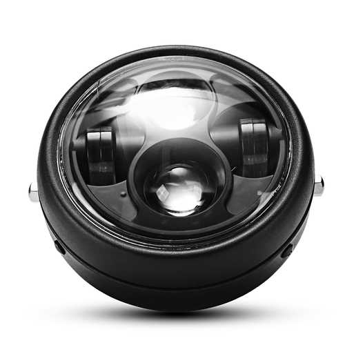 12V 6000K 40W Headlights High/Low Beam LED Headlamp Driving Light For Harley Motorcycle