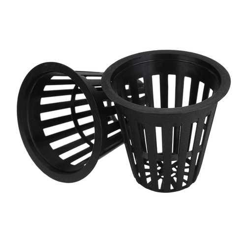 10Pcs 2.2Inch Plastic Mesh Net Basket Hydroponic Aeroponic Flower Container Grow Pot Planting Basket