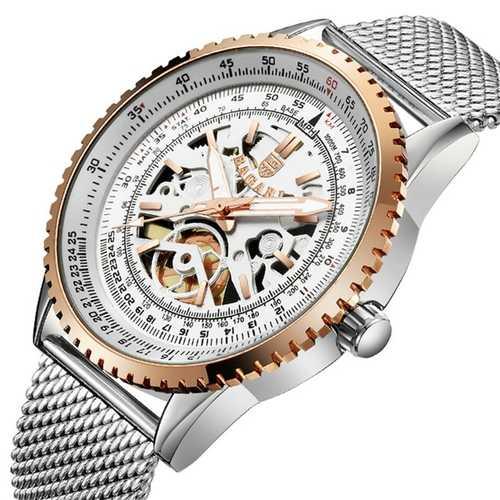 BAGARI 1680 Milan Steel Strap Business Style Quartz Watches