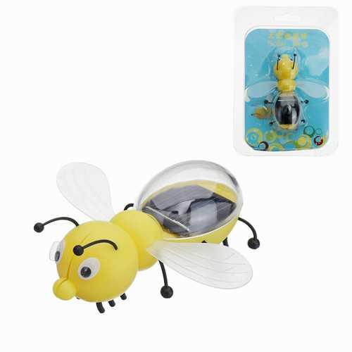 8cm Solar Power Toy Cute Bee Developmental Gadget Toy Animal For Kid Gift