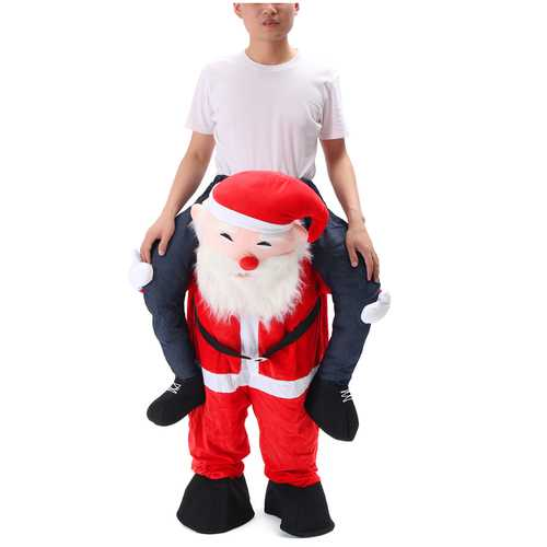 Christmas Unisex Dwarf Carry Me Fancy Piggy Back Ride On Dress Mascot Costume Party Pants
