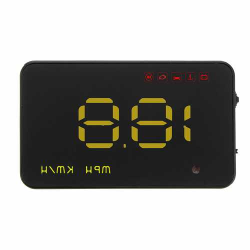 3.5 Inch Uinversal Car HUD Head Up Display LCD OBD2 Overspeed Warning System