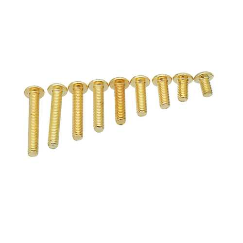 20Pcs LANTIAN 12.9 Half Round Head Plating Titanium Gold M3 5/6/8/10/12/14/16/18/20mm Hex Screw