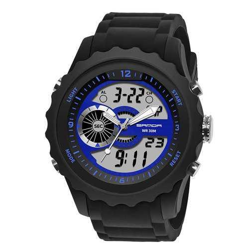 SANDA 769 Luminous Stopwatch Men Dual Digital Digital Watch