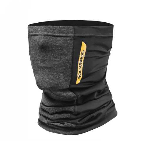 ROCKBROS Ice Silk Fabric Cycling Face Mask Sunscreen UV400 Absorb Sweat Breathable Bandana Half Face Mask