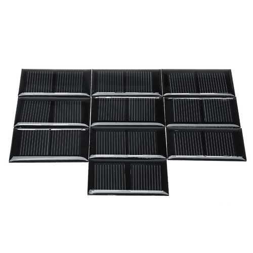 10Pcs Polysilicon Mini Solar Epoxy Panel 1V 125MA One Pcs
