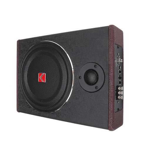 8 Inch 600W Car Subwoofer Speaker Active Under Seat Slim Sub Woofer AMP Super Bass