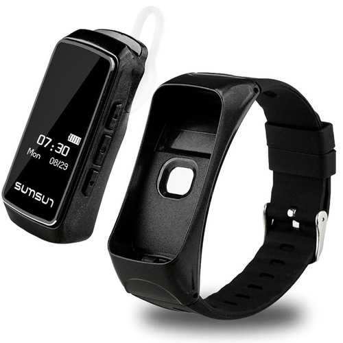 B7 Talk Band Heart Rate Monitor Pedometer Phone Call Bluetooth Smart Watch For iPhone X 8/8Plus Sams