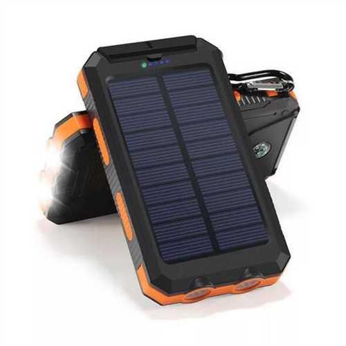 Bakeey 20000mAh Dual USB DIY Solar Power Bank Case Kit with LED Light Compass