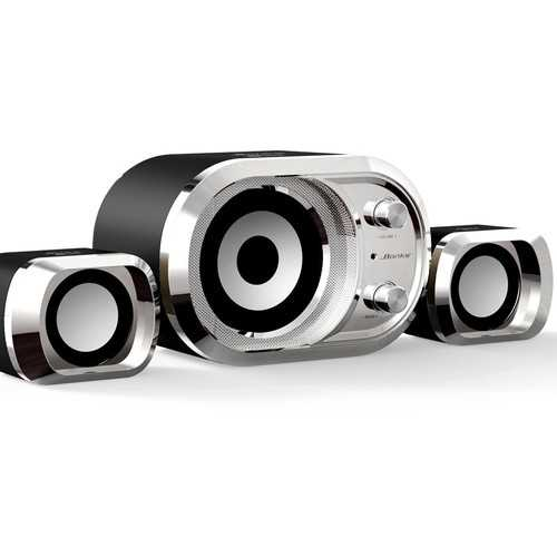 3 in 1 Computer Speakers USB Power Bass Stereo Subwoofer Speaker for Phone Computer Laptop PC