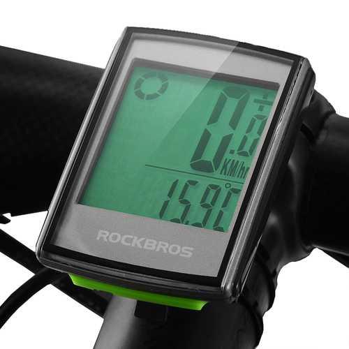 ROCKBROS BC18 2.2in 18 Functions Wireless Bike Computer Waterproof LCD Cycling Speedometer Odometer MTB Accessories