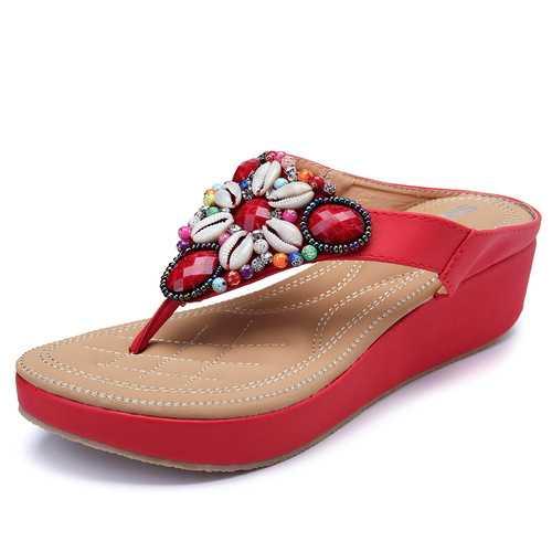 Women Rhinestones Bohemian Casual Sandals