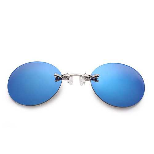 Men Outdoor Metal Clip-on Nose Sunglasses