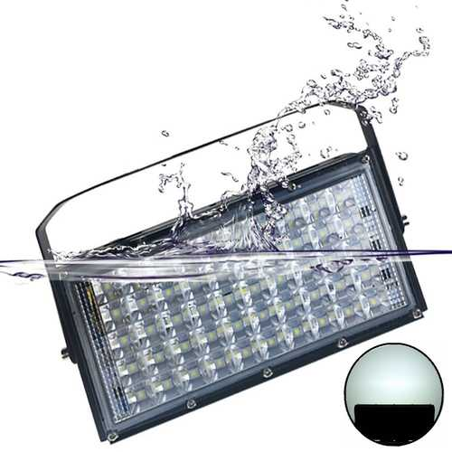 50W 4500lm Waterproof IP65 50 LED Flood Light with Lens White Light Spotlight Outdoors Lamp AC220V