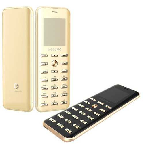 GEECOO Smart1 1.54 inch 380mAh Bluetooth Calling FM Electroplate Button Ultra Thin Mini Card Phone