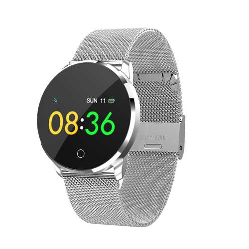 Bakeey 0.96inch OLED Blood Pressure HR Sleep Monitor Fitness Tracker Stainless Steel Smart Watch