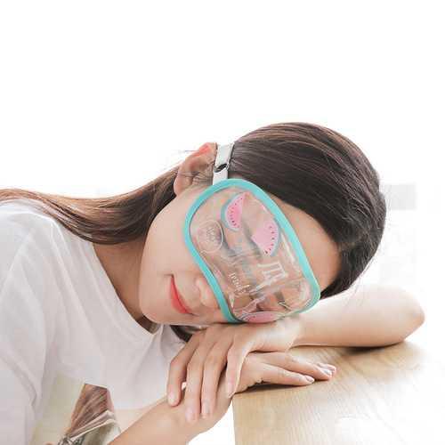 Transparent Creative Breathable Sleep Cute Cactus Watermelon Radish Unicorn Eye Mask For Sleeping Padded Soft Travel Aid Glass Ice Blindfold