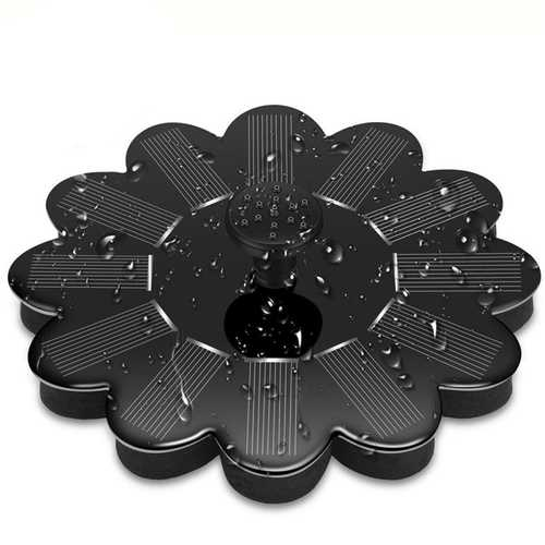 1.4W 5V Outdoor Floating Solar Fountain Sunflower Water Pump Solar Panel Plants Watering Pool Garden Pumps Floating Solar Power Fountain Panel Kit Garden Water Pump Pool Watering Wide Irrigation Pumps