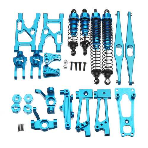 WLtoys K949 1/10 Aluminum Alloy Upgraded Metal Rc Car Parts Kit Silver Blue Gold Color