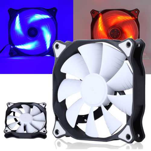 12cm 3 Pin 4 Pin LED Light Computer Cooling Fan Cooler Heatsink for Computer Case Mining
