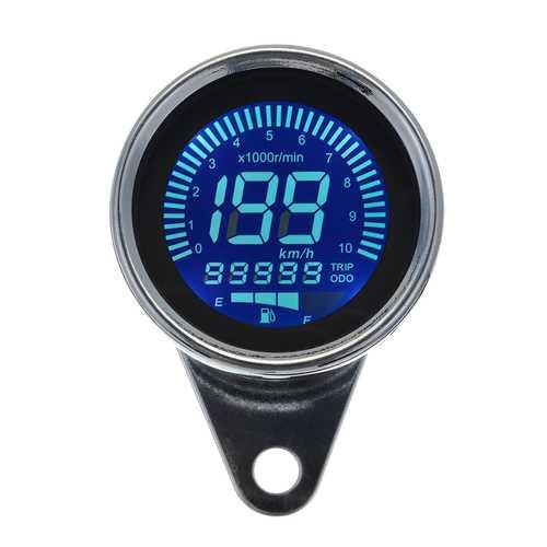 10000RPM Motorcycle LCD Odometer Speedometer Oil Meter Integrated