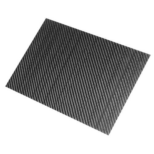200x300x3mm Carbon Fiber Plate Panel Sheet Board 3K Twill Glossy Weave