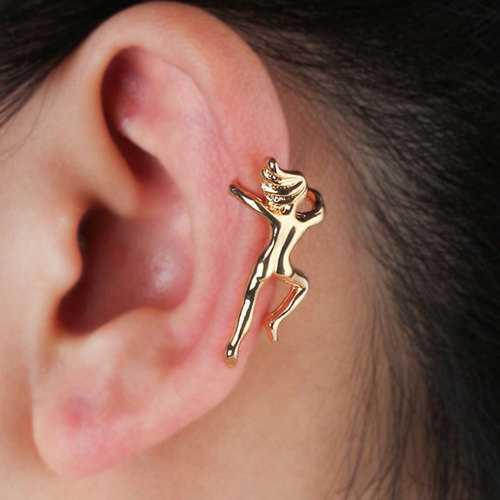 Funny Figure Gymnast Human Shape No Piercing Ear Clip