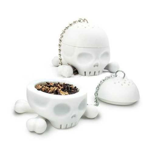 Cool Food-safe Silicone T-Bones Bones Skull Infuser Loose Leaf Tea Strainer Filter Infuser Diffuser Silicone T-Bones Tea Bones Skull Tea Infuser
