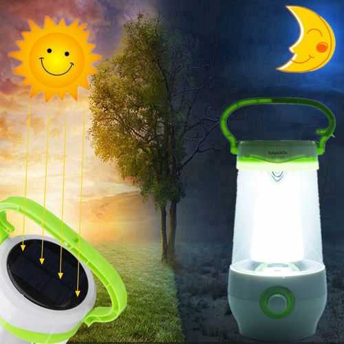8W Rechargeable Portable Emergency Light Stepless Dimmable Solar Light LED Camping Light AC110-240V