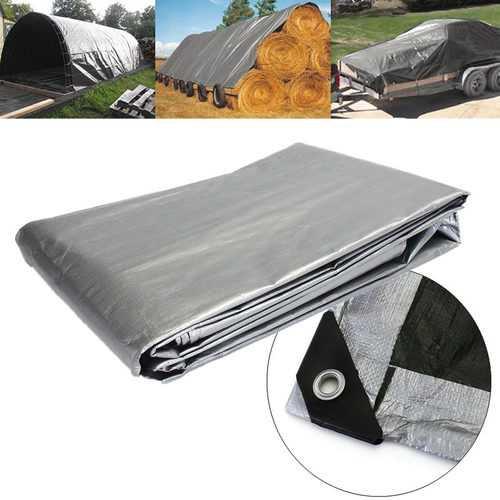 287.4x354.3 Inch Heavy Duty Poly Tarps PE Tarpaulin Camping Cover UV Water Rot Proof Tent Sunshade