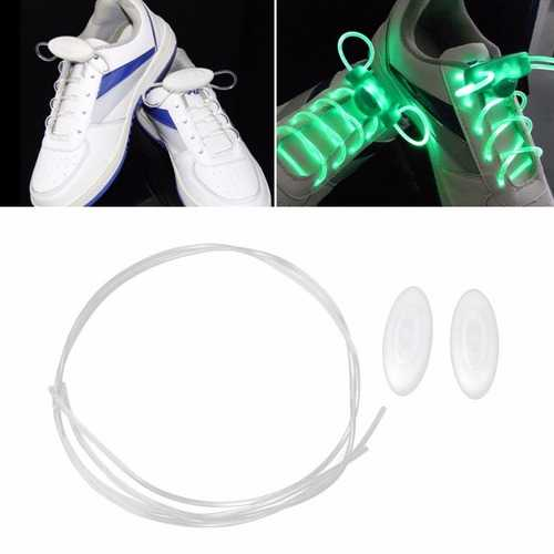 1 Pair LED Bestselling 80CM Flash Luminous Fashionable 6 Color Glass Fiber  Shoe Laces  for Party Skating Running Disco Light Up Glow Nylon Strap